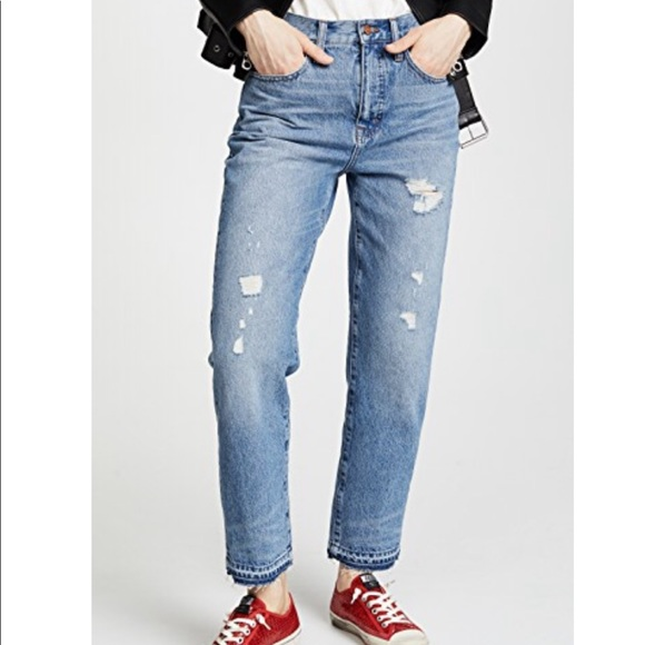 Madewell Denim - Madewell Destroyed Classic Straight Jeans